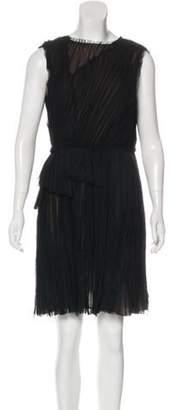 J. Mendel Silk Mini Dress Black Silk Mini Dress