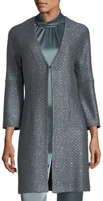 St. John V-Neck Sequin Column Jacket