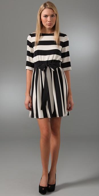 Alice + Olivia Striped Emmie Dress