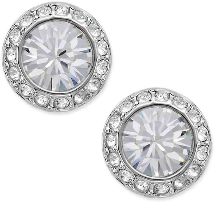 Swarovski Earrings, Silver-Tone Crystal Circle Stud