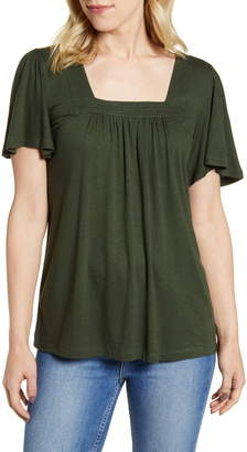 Bobeau Kate Square Neck Top