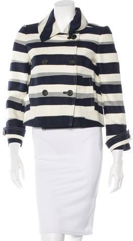 Chloé Chloé Double-Breasted Linen Coat