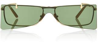 Gucci Cat-Eye Gold-Tone Sunglasses