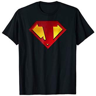 Funny Superhero Shield Letter J name Gift 3D Tee Shirt