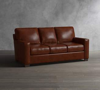 Pottery Barn Buchanan Square Arm Leather Sofa Collection