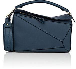 Loewe Women's Puzzle Medium Leather Shoulder Bag - Indigo