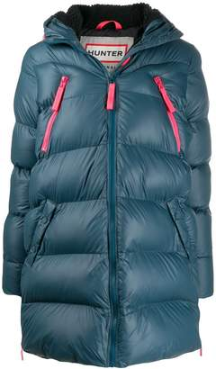 Hunter hooded quilted coat