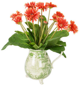 Ophelia & Co. Orange Gerber Daisy in Asian Pitcher