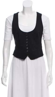 Elizabeth and James Cropped Button-Up Vest