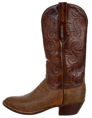 Lucchese Leather Cowboy Boots Brown Leather Cowboy Boots