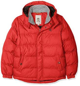 Timberland Boys' Doudoune Jacket, (Sport RED)