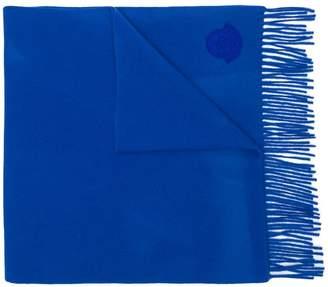 Moncler logo patch scarf