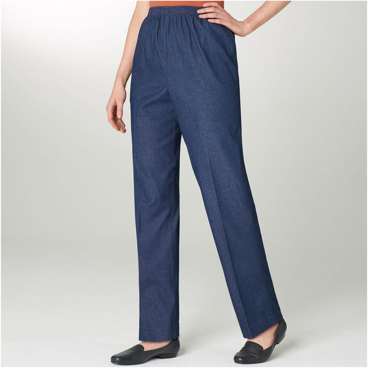 Alfred Dunner Chambray Pants - Petite