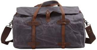 EAZO - Handmade Vintage Look Waxed Canvas Travel Bag In Grey