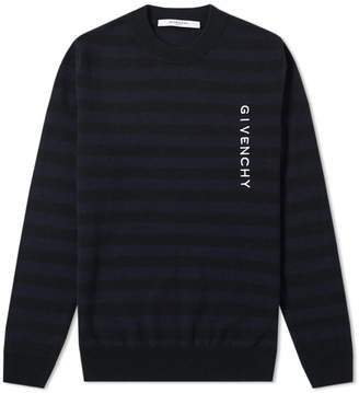 Givenchy Stripe Logo Crew Knit