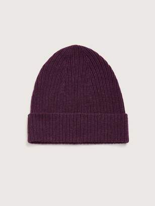 Rib Knit Cashmere Beanie - Addition Elle
