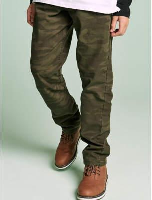 George Khaki Camouflage Print Trousers