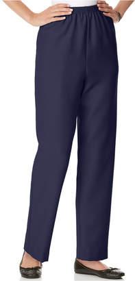 Alfred Dunner Petite Pull-On Straight-Leg Pants