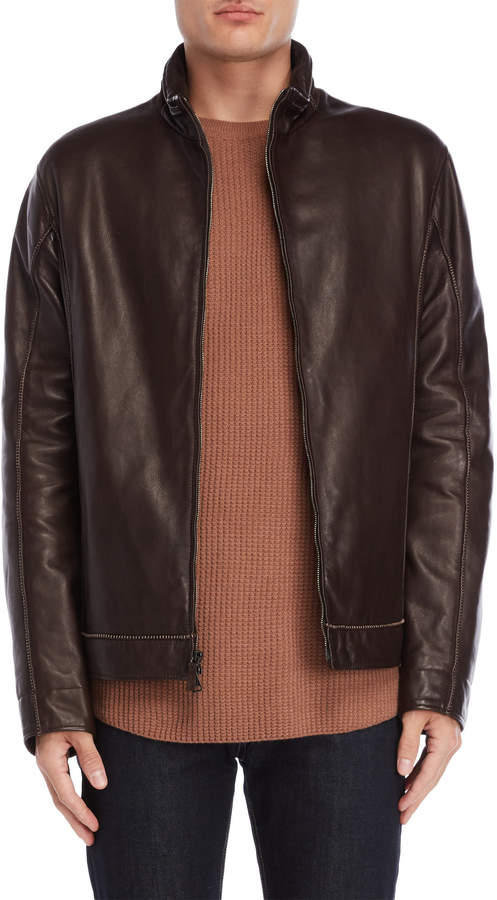 Robert Comstock Brown Leather Jacket
