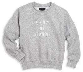 Knowlita Toddler's, Little Kid's& Kid's Camp or Nowhere Cotton Sweater