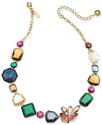 """Kate Spade Gold-Tone Multi-Crystal Collar Necklace, 17"""" + 3"""" extender"""