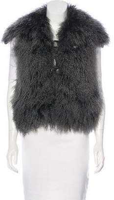 Isabel Marant Mongolian Lamb & Leather Vest w/ Tags