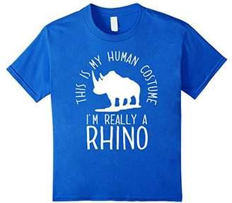 Funny Human Costume Rhino T-Shirt