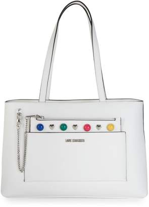 Love Moschino Textured Tote & Pouch Set