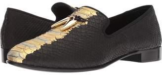 Giuseppe Zanotti Kevin Metallic Croc Print Loafer Men's Shoes