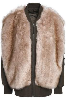 Helmut Lang Faux Shearling And Canvas Coat