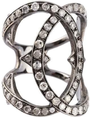 Loree Rodkin spiked diamond double loop ring