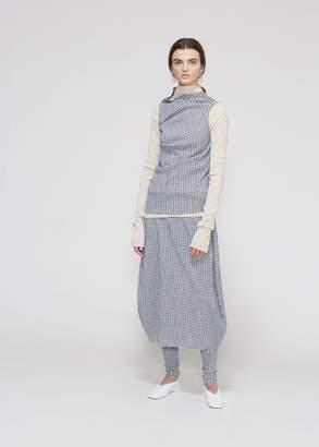 Jil Sander Low-Rise Gingham Skirt