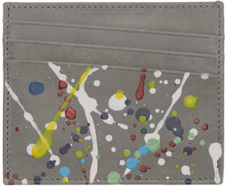 Maison Margiela Grey Paint Splatter Card Holder