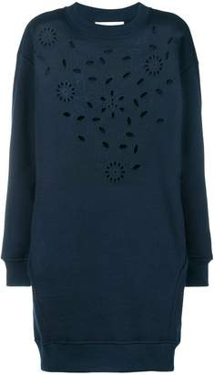 See by Chloe floral embroidered sweater dress