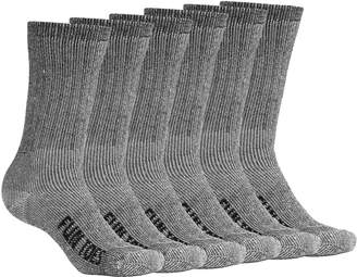 979403cc70 FUN TOES Women Thermal Merino Wool Socks 6 Pairs Mid Weight Reinforced Size