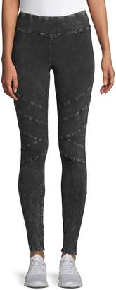 Andrew Marc Mineral Wash Moto Leggings