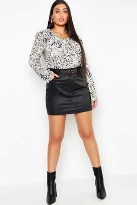 boohoo Plus Leopard Spot Shirt