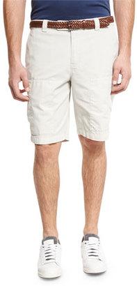 Brunello Cucinelli Cotton Cargo Shorts, Neutral $695 thestylecure.com