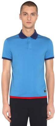 Prada Stretch Cotton Jersey Polo Shirt