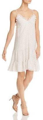 Rebecca Taylor Ruffled Ikat Dot Dress