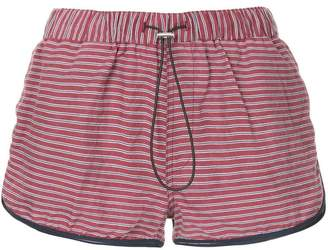 The Upside striped runner shorts