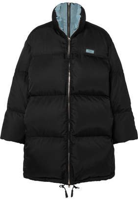 Prada Oversized Quilted Shell Down Jacket - Black