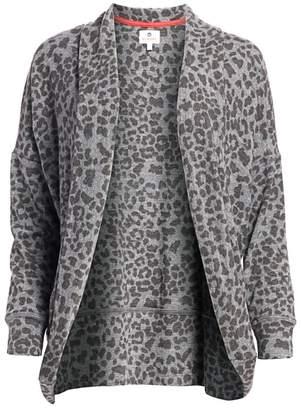 Sundry Leopard Print Cardigan