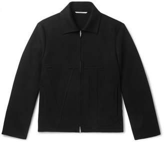 Valentino Appliqued Wool and Cashmere-Blend Blouson Jacket - Black