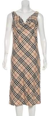 Burberry Wool Nova Check Dress w/ Tags