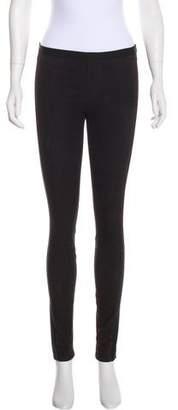Helmut Lang Leather-Paneled Skinny Leggings