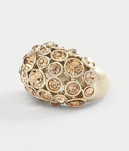 Gold Stone Cluster Ring