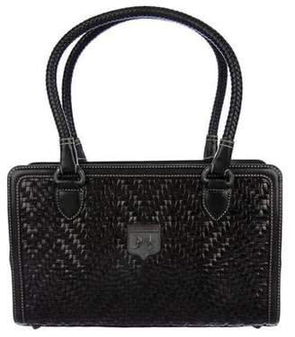 Kieselstein-Cord Woven Leather Satchel