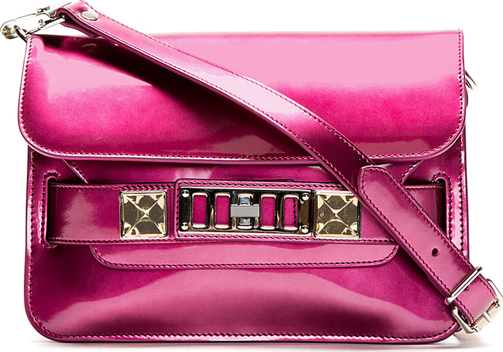 Proenza Schouler Bordeaux Pink Leather PS11 Mini Classic Shoulder Bag