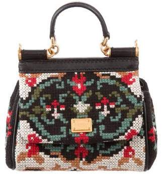 Dolce & Gabbana Mini Knit Miss Sicily Bag